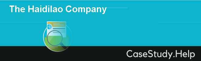 The Haidilao Company