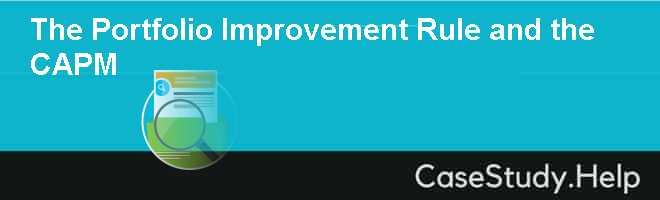 The Portfolio Improvement Rule and the CAPM
