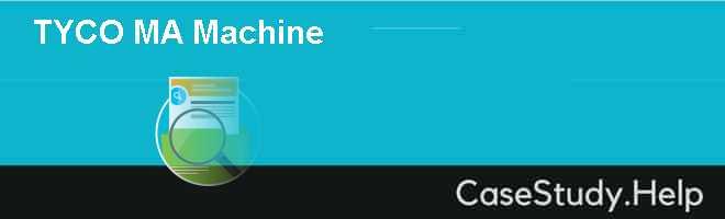 Tyco – M&A Machine