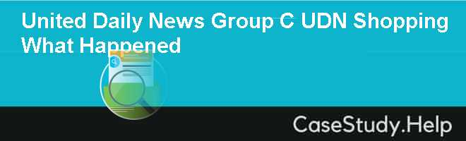 United Daily News Group C UDN Shopping  What Happened