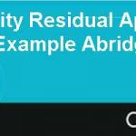 Using the Equity Residual Approach to Valuation An Example Abridged