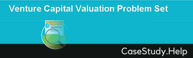 Venture Capital Valuation Problem Set