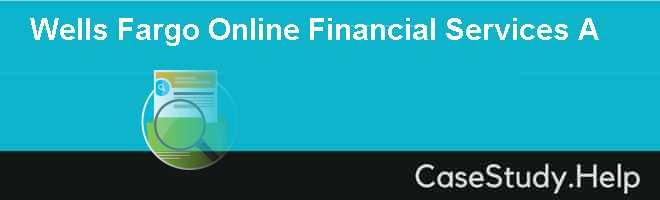 Wells Fargo Online Financial Services A