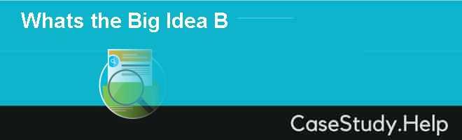 Whats the Big Idea B